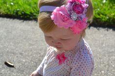 First birthday.... http://www.etsy.com/listing/113502948/princess-pink-shabby-chic-baby-headband