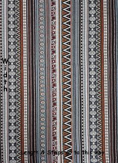 Thai Woven Fabric Tribal Fabric Native Cotton Fabric by the yard Ethnic fabric Craft fabric Craft Supplies Woven Textile yard Woven Fabric, Cotton Fabric, Paisley Art, Tribal Fabric, Weaving Textiles, Textile Design, Fabric Crafts, Nativity