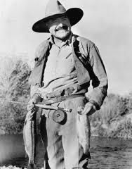 Ernest Miller Hemingway (fly fishing)(7/21/1899-7/02/1961)American author & journalist. His economical and understated style had a strong influence on 20th-century fiction, while his life of adventure and his public image influenced later generations. Hemingway produced most of his work between the mid-1920s and the mid-1950s, and won the Nobel Prize in Literature in 1954. He published seven novels, six short story collections, and two non-fiction works.