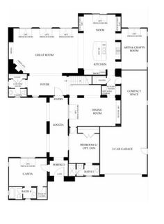 Santorini at Windemere by Brookfield Homes - Residence One - Floor Plan - First Floor - Robert Hidey Architects