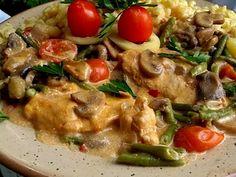 Érdekel a receptje? Kattints a képre! Meat, Chicken, Food, Red Peppers, Essen, Meals, Yemek, Eten, Cubs