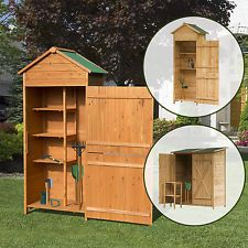 Holz Gerätehaus Gartenhaus Geräteschuppen Gartenschrank Geräteschrank  3 Modelle