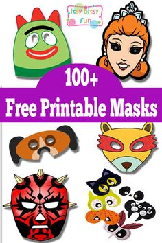 Over 100 Free Printable Masks! Great DIY Halloween Costume Ideas for Kids!