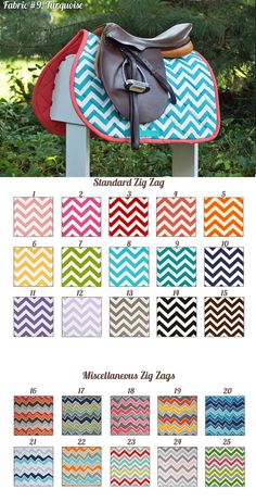 Absolutely love these Zig Zag Prints Saddle Pads! #charleighscookies #horsecookies #equestrianaccessories