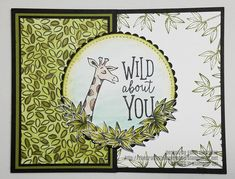Animal Outing Wild About You card idea. New stamp set will be available June Created by The Crafty Stampers Den. Professional Gifts, Your Cards, Den, Stamping, Embellishments, Card Making, Crafty, Website, Projects