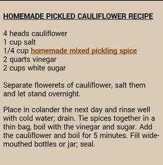 pickled cauliflower more pickled cauliflower