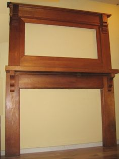 craftsman style...idea for fireplace mantel and mirror