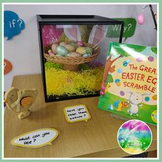 Early Years ideas from Tishylishy My Easter egg Curiosity Cube Eyfs Classroom, Classroom Displays, Classroom Ideas, Curiosity Approach Eyfs, Curiosity Box, Tuff Tray, Little Learners, Pirate Theme, Learning Through Play