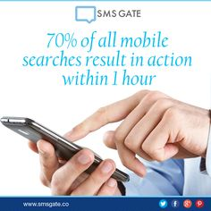 70% of all mobile searches result in action within 1 hour.