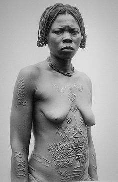 Africa | Traditional Scarification.  No further details provided at the source.