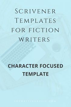 Scrivener Template for Fiction Writers: Character Focused Template Novel Writing Software, Writing Advice, Writing Resources, Writing A Book, Writing Prompts, Writing Ideas, Writing Worksheets, Reading Books, Writing Help