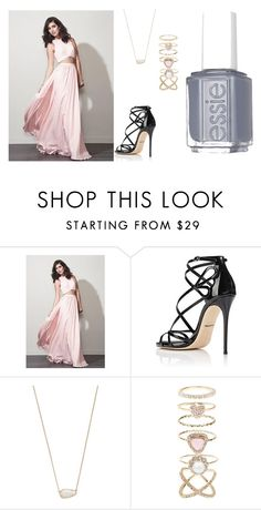 """Tea's prom"" by olivia-weissman on Polyvore featuring Fame & Partners, Dolce&Gabbana, Kendra Scott, Accessorize and Essie"