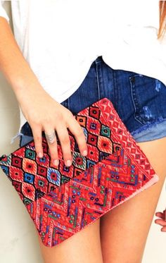 Travel Essential: pink handmade cosmetic bag from Guatemala. {the little market}