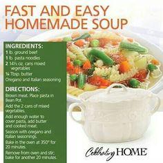 .Homemade Soup