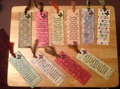 han made book marks | Hand made bookmarks