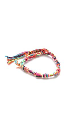 Chan Luu Knotted Strand Bracelet in Electric Pink Mix
