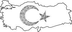 Türk Bayrağı Boyama Kağıdı Çalışması   Türk Bayrakları Ramadan Activities, String Art, Wood Art, My Little Pony, Special Day, Henna, Homeschool, Mandala, Drawings