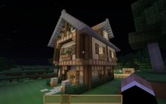 Medieval Cottage Minecraft Buildings, Minecraft Stuff, Minecraft Ideas, Minecraft Creations, Medieval, Universe, Victorian, Cottage, Cabin