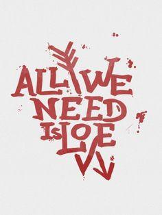 All we need is love - On The Wall | Crie seu quadro com essa imagem https://www.onthewall.com.br/frases-e-citacoes/all-we-need-is-love #quadro #canvas #moldura #decor #decoração