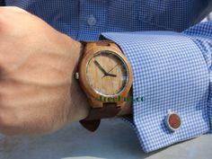 Personalizable Minimalist Bamboo Wooden Watch by TreeHutDesign