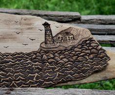 Coast, Pyrography on driftwood by Trevor Moody, 2014    http://tmoody207.wordpress.com/  Watch me make this one @ https://www.youtube.com/watch?v=eQ5uVv8xVr0