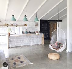From kitchen floor tiles to polished concrete, we've got gorgeous kitchen flooring ideas to transform the heart of your home. Basement Flooring, Basement Remodeling, Kitchen Flooring, Flooring Ideas, Kitchen Backsplash, Backsplash Ideas, Ideas For Concrete Floors, Basement Ideas, Basement Floor Paint