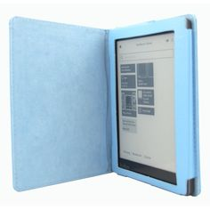 Magnetic Leather Cover Case for KOBO AURA eReader (NOT Fit KOBO AURA HD) (Light Blue) -- Read more reviews of the product by visiting the link on the image.