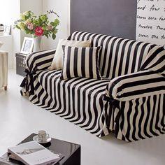 Satin Stripe/サテンストライプ ジャカード織ソファカバー リボンタイプ|家具収納・インテリア雑貨専門 通販のハウススタイリング(house styling)