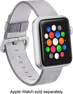 Modal - Woven Nylon Band Watch Strap for Apple Watch 38mm - Gray