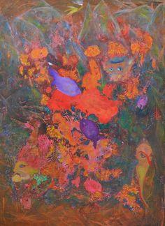 Panoptikum, mixed media on canvas, 2014 Saatchi Art, Original Paintings, Abstract Art, Canvas Art, Pastel, Ink, The Originals, Mixed Media, Cake