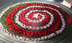 Take a look at these colourful water rangoli. Create beautiful water rangoli using flowers and decorate your house during Diwali and other festivals. Rangoli Designs Flower, Rangoli Ideas, Flower Rangoli, Flower Designs, Colour Rangoli, Housewarming Decorations, Diwali Decorations, Festival Decorations, Flower Decorations