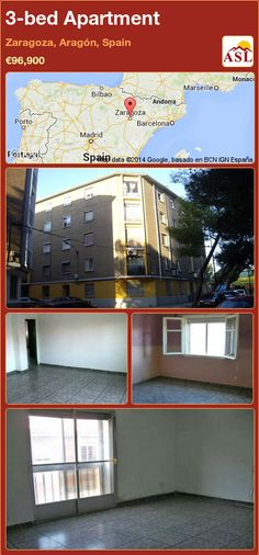 3-bed Apartment in Zaragoza, Aragón, Spain ►€96,900 #PropertyForSaleInSpain