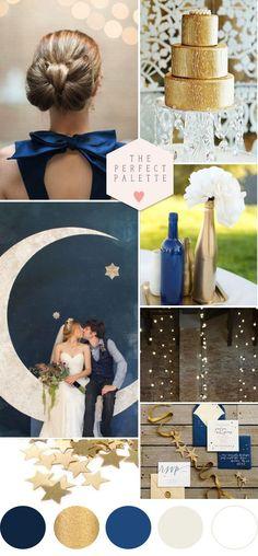 Mon mariage sur le thème de l'espace et des constellations