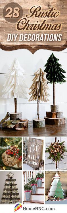 Rustic DIY Christmas Home Decor Ideas #christmasdecorationsDIY