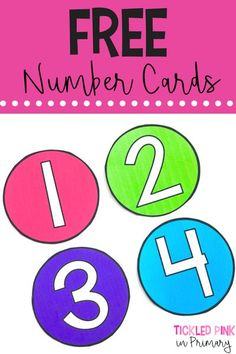 Using a classroom number system with your students makes labeling things for Back to School a breeze! Grab these FREE numbers to use in your classroom. Back To School Activities, Math Activities, School Ideas, Math Games, Numbers Preschool, Preschool Printables, Classroom Jobs, Classroom Management, Classroom Organization