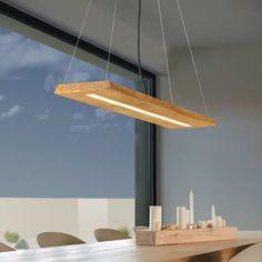 Lampa wisząca Brad z drewna Energy Efficient Lighting, Made Of Wood, Hanging Lights, Pendant Lamp, Contemporary, Vintage, Design, Style, Barbie