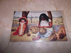 Postcard Souvenir Indian Basket Maker Divided Back Unused     4243