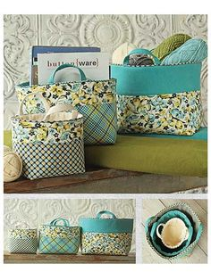 Banded Baskets Sewing Pattern