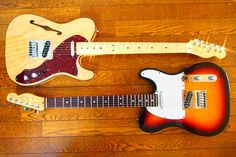 Fender American Deluxe Telecaster Thinline and 60th Aniv. Diamond Telecaster