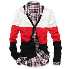 Men's Fashion Slim cardigan V-neck sweater bottoming sweater