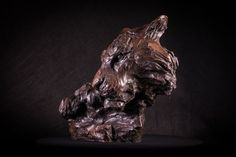 #Bronze #sculpture by #sculptor Matt Withington titled: 'Killing Time (Bronze Resting Tiger Head Bust statue sculpture for sale)'. #MattWithington