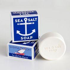 Sea Salt Soap...love the nautical packaging.