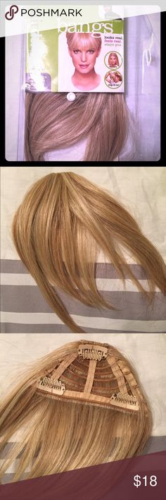 """Bangs- clip in by Ken Paves Synthetic. """"Golden wheat"""" color. Never worn. Ken Paves Other"""