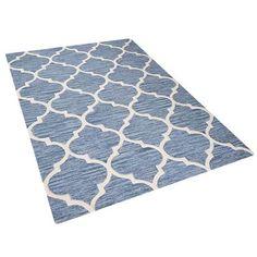 Teppich hellblau 140 x 200 cm Kurzflor Yalova Beliani – Newest Rug Collections Shag Carpet, Rugs On Carpet, Blue Carpet, Carpets, Carpet Trends, Rectangular Rugs, Color Beige, Bedroom Flooring, Jute Rug