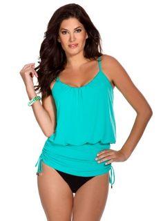 1c0ed0e73c82e Magic Suit Women's Shelly Cinch Waist Tankini on bustyswimwear.com Slimming Bathing  Suits, Swimwear