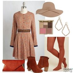 Frugal Fashion Friday Fall Outfit for Women on Frugal Coupon Living. Fall colors including clay, burnt orange, camel and more. Fall Fashion.