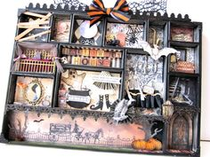 HAlloWeEn HoUSE Configuration Box Decoration Shadow by paperwild