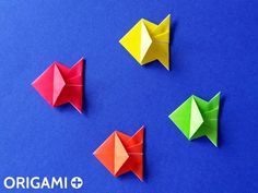 Cute Origami Fish tutorial, very easy