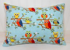 Pillow Cover  12 x 16 Inches  Owls on a Limb by theredpistachio, $14.00