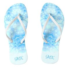 #ad Flip Flops, Monogram, Slip On, Sandals, Abstract, Pattern, Prints, Blue, Shoes
